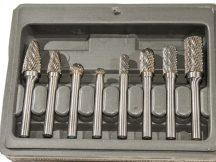 turbómaró készlet kemény fémhez, kereszt fogazás, 8 darabos