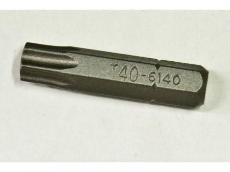 """torx (külső) bit, T-40, 30mm, 1/4"""""""