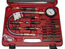 kompresszió tesztelő készlet diesel motorhoz, 17 darabos