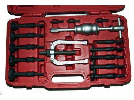 belső csapágy és szilent (persely) kihúzó készlet csúszókalapáccsal, 16 darabos