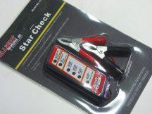 akkumulátor teszter, LED kijelzős