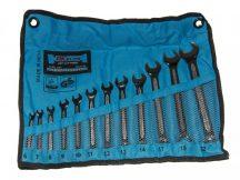 csillag-villás kulcs készlet, csúszásmentes, 6-22mm, 12 darabos