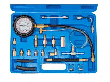 üzemanyag befecskendező nyomásmérő készlet (benzin,gázolaj), 22 darabos
