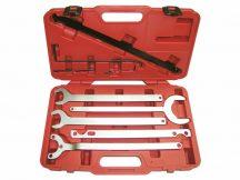 visco-kuplung és vízpumpa ékszíjtárcsa szerelő kulcs készlet - Mercedes, BMW, Ford - 10 darabos