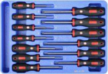 csavarhúzó készlet, t-torx (külső), 13 darabos
