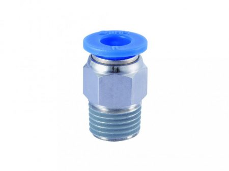 """műanyag-levegőcső dugaszolható csatlakozó, egyenes, külső menetes, 1/4"""", 6mm"""