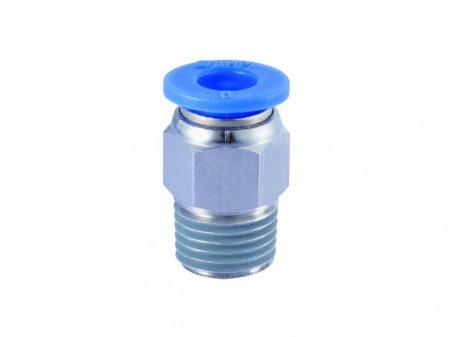 """műanyag-levegőcső dugaszolható csatlakozó, egyenes, külső menetes, 1/4"""", 10mm"""