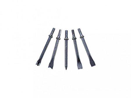 véső készlet pneumatikus véső kalapácshoz, 5 darabos