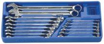 csillag-villás kulcs készlet, 7-24mm, 15 darabos