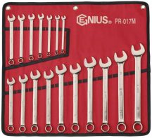 Csillag-villás kulcs készlet, 6-22mm, 17 darabos
