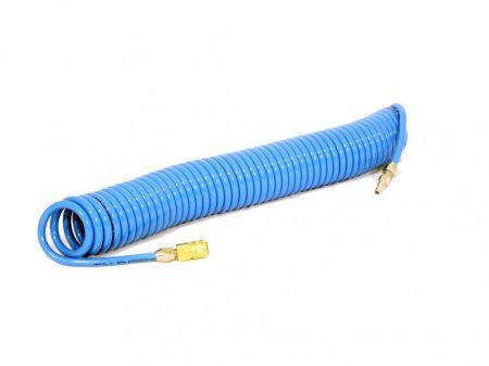 PU spirális levegőcső, szövetbetétes, Ø8/12mm, 12m hosszú