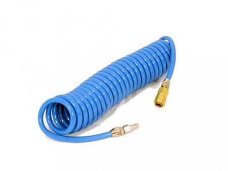 PU spirális levegőcső, szövetbetétes, Ø8/12mm, 6m hosszú