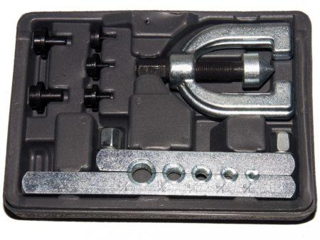 csőperemező készlet egyszerű és dupla perem készítéséhez, 7 darabos