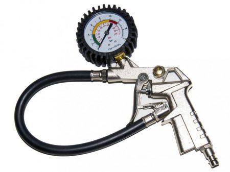 Kerékfújó (pumpálófej), nyomásjelző órával, 16bar