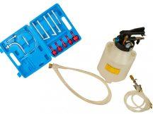 (automata) váltóolaj felöltő pumpa (pneumatikus) 13db adapterrel, 6l