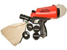 pneumatikus kézi homokfúvó pisztoly gyűjtőzsákkal